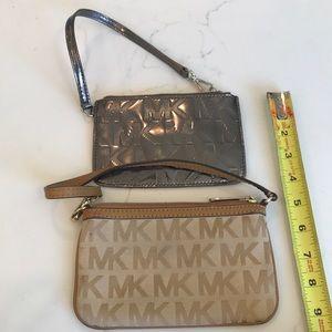 2 Michael Kors Wristlet Bags